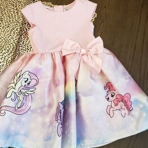 Pink Dress with Little Pony Print for Girls
